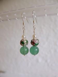 sterling sølv med grøn jade