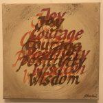 joy, wisdom... str. 30 * 30 cm
